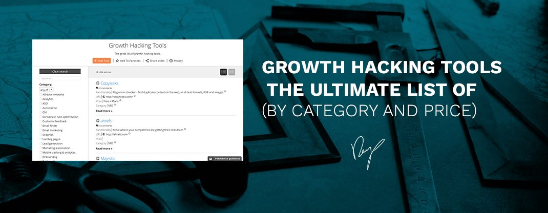 Growth Tools - Ultimate list